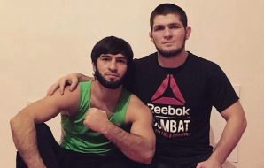 Khabib Nurmagomedov and his teammate Zubaira Tukhugov