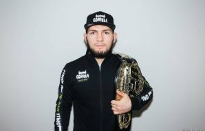 Khabib Nurmagomedov sponsored by Gorilla energy drink