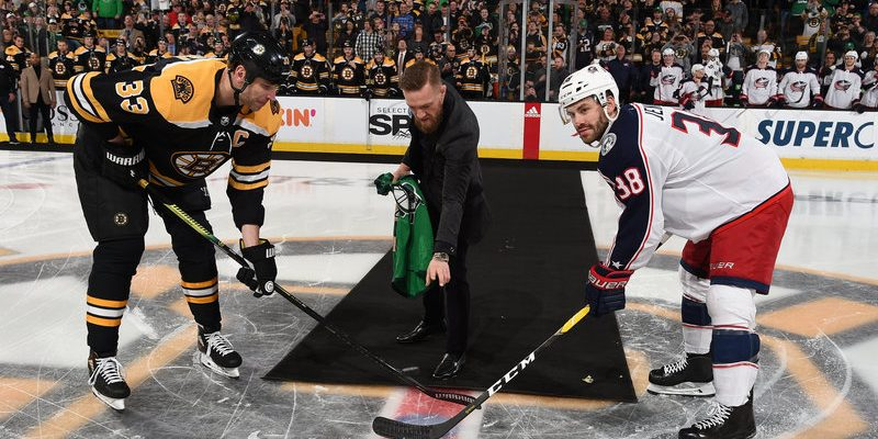 Conor McGregor dropped a puck at Boston Bruins game
