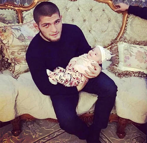 Khabib Nurmagomedov and his son Magomed