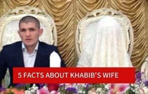 Khabib and his wife Mrs. Nurmagomedova at the wedding