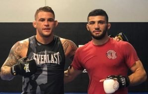 Dustin Poirier and Arman Tsarukyan sparring at the ATT gym