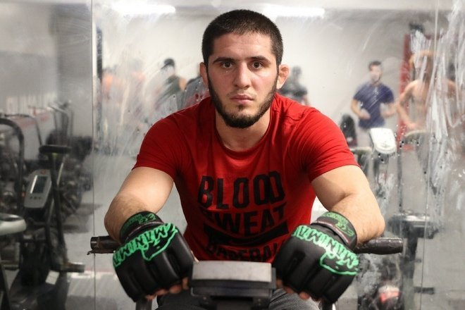 Islam Makhachev preparing for his fight vs Davi Ramos at UFC 242