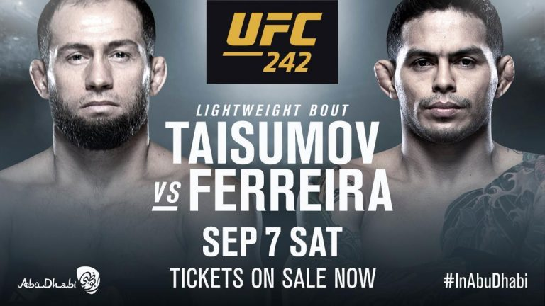 Taisumov vs Ferreira fight at UFC 242