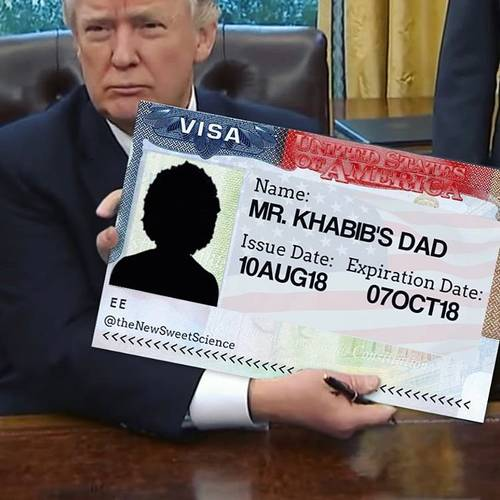 Trump US visa to Khabib Nurmagomedov's father