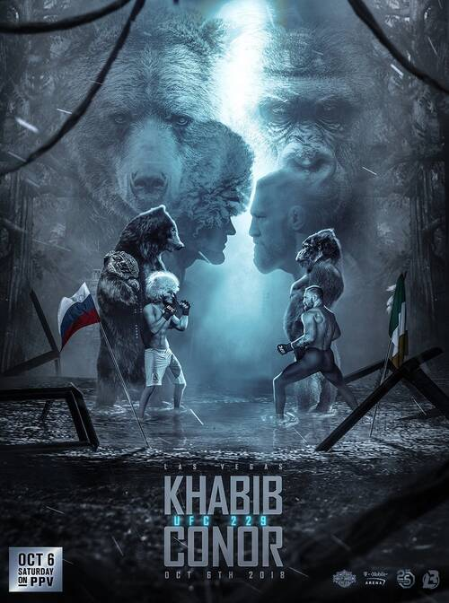 Khabib vs Conor fight poster