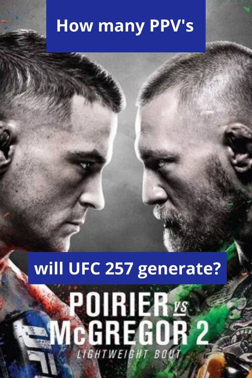 How many PPV's buys UFC 257 McGregor vs Poirier 2