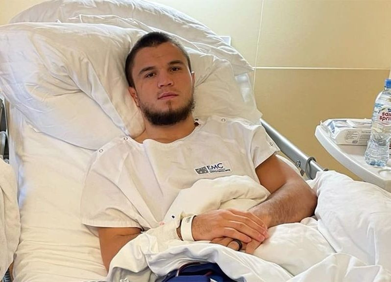 Umar Nurmagomedov torn ACL knee injury